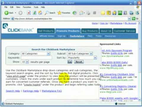 Make money online with no website or client mailing list with Clickbank and eBay-part 1.flv