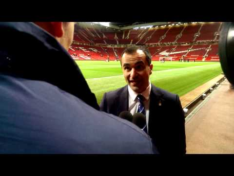 Video: Roberto Martinez's Old Trafford reaction.