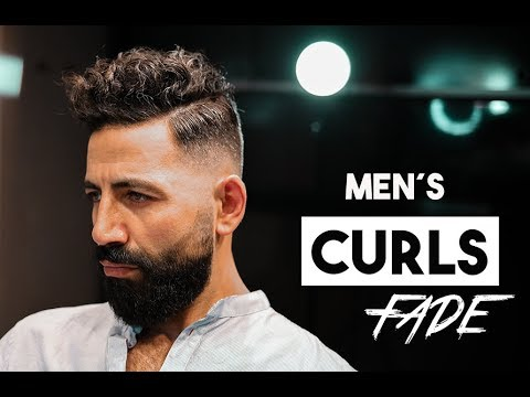 Mens hairstyles - Men´s Curly hair. Fade hairstyling. Men´s hairstyling inspiration 2019