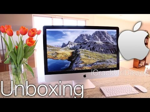 Retina - WATCH FIRST For More iMac Videos, Follow Me On Twitter: http://twitter.com/#!/iCrackUriDevice Unboxing Apple's iMac 5K Retina Display - Late 2014 new iMac Reviewed and swiftly Unboxed....
