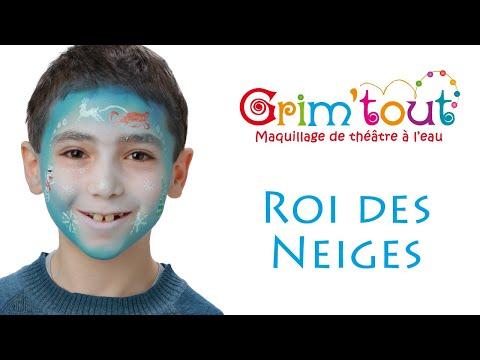 Modèle maquillage enfant ROI DES NEIGES