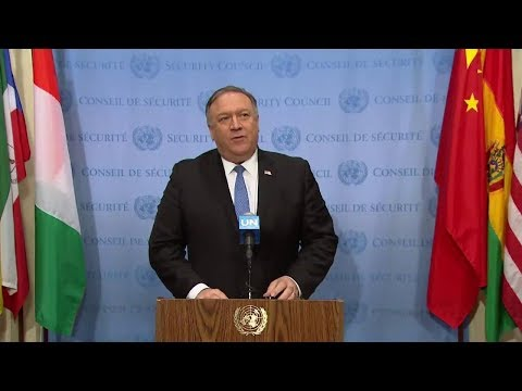Secretary Pompeo Delivers Remarks to the Press at the United Nations