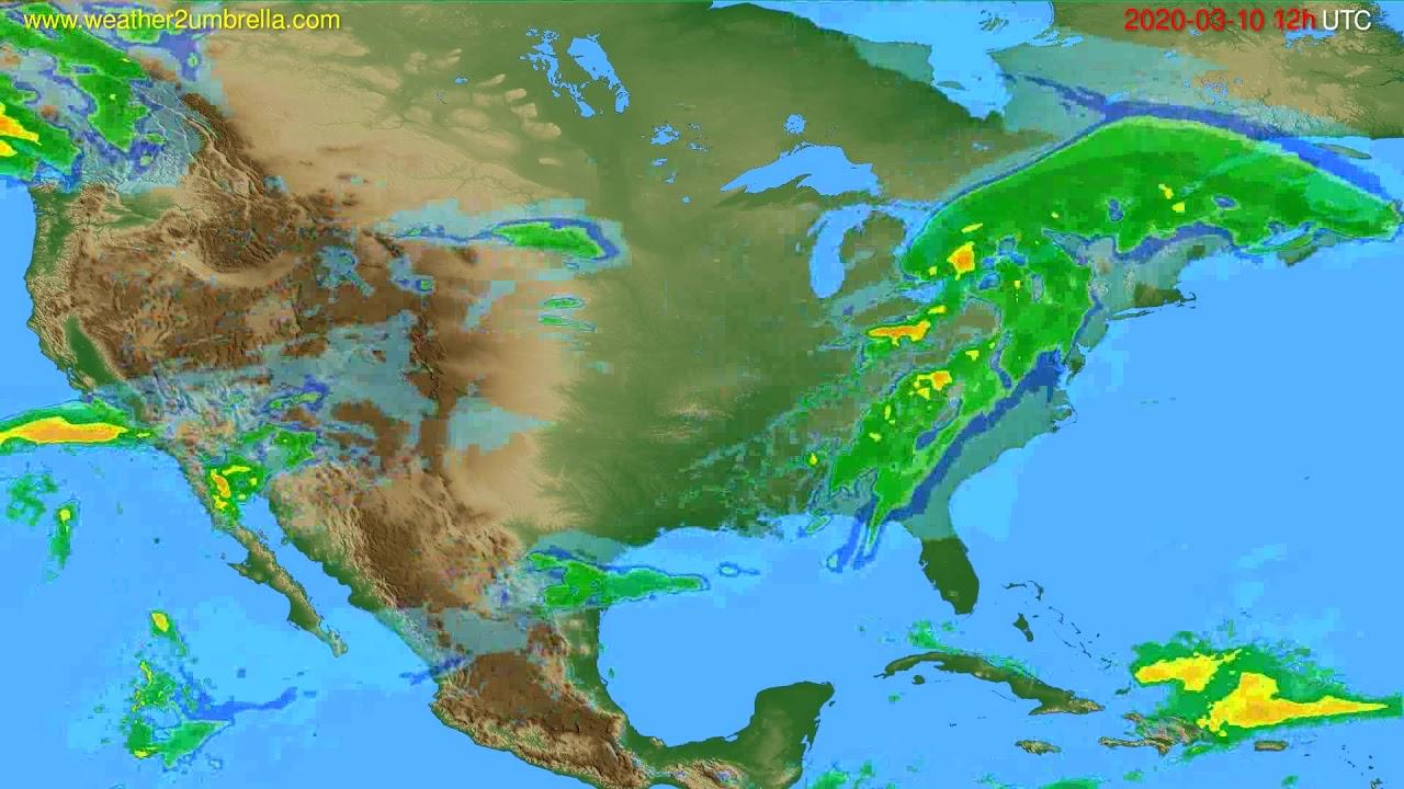 Radar forecast USA & Canada // modelrun: 00h UTC 2020-03-10