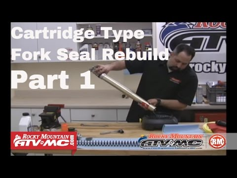 Change Motorcycle Fork Seals Part 1 (of 2) Cartridge Type