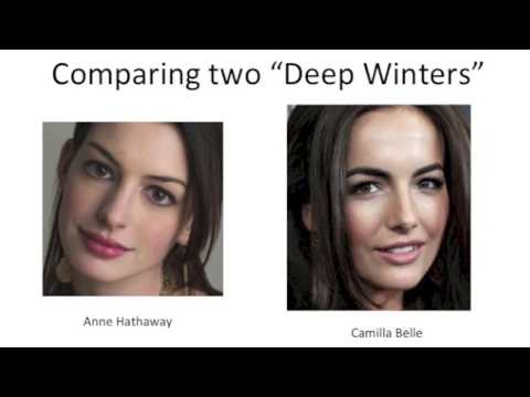 """Comparing Two """"Deep Winters"""" (Artistic License Color System)"""