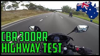 10. CBR300RR Highway test | Overtaking, Top Speed, Wind *SCARY*