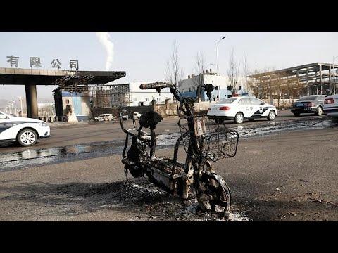Φονική έκρηξη έξω από εργοστάσιο χημικών