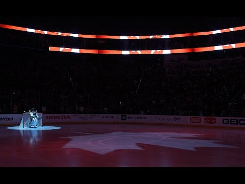 """canada - The Consol Energy Center joins together to sing """"O Canada"""" in support of Canada and the recent tragedies in Ottawa."""