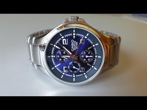 Обзор часов Casio EDIFICE EF-316D-2AVEF (Review) (видео)