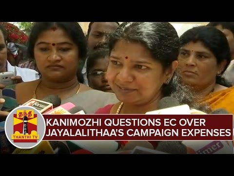 Kanimozhi-Questions-EC-Over-CM-Jayalalithaas-Election-Campaign-Expense