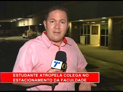 [RONDA GERAL] Estudante é atropelada no estacionamento da faculdade