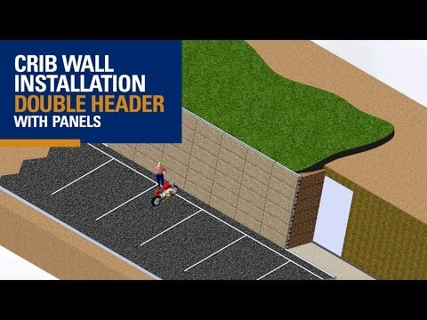 Crib Wall - Double Header with Patterned Face (3D Animation)