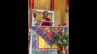 Khentrul Lodrö T'hayé Rinpoche Singing Vajra Song for Guru Rinpoche Day