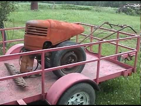 david bradley tractor - My 'new' David Bradley 917.5751 Series 191 walking tractor, home at Oakdale Farm fresh from the garage sale. This is a video to show what I have to start wit...