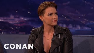 Ruby Rose On Looking Like Justin Bieber  - CONAN on TBS full download video download mp3 download music download