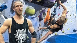 Thor breaks the problem and gets a surprise. ( V10/7C+ ) by Eric Karlsson Bouldering
