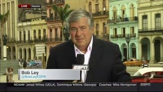 Bob Ley was reporting live in Havana Cuba near the stadium where the Tampa Bay Rays played an exhibition game with the ...