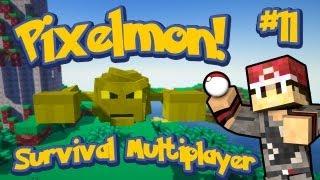 Pixelmon Survival Multiplayer Episode 11 - Yellow Boss Geodude! w/Youtubers
