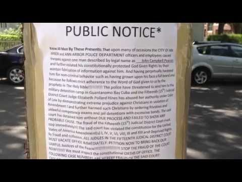 Public Notice* Religious freedom and Natural Rights. Ann Arbor, Michigan