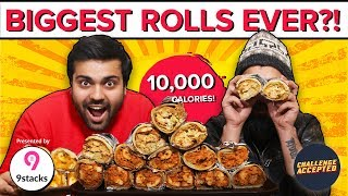 BEST EVER Butter Chicken Rolls Eating Challenge | Challenge Accepted #43