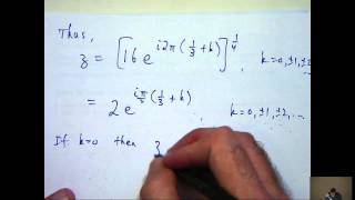 Complex number solutions to polynomial equations