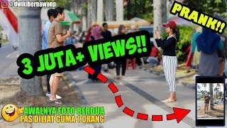 Video NGAKAKK! FOTO AWALNYA BERDUA PAS DILIAT CUMA 1 ORANG HAHAHA - Prank Indonesia MP3, 3GP, MP4, WEBM, AVI, FLV Februari 2019