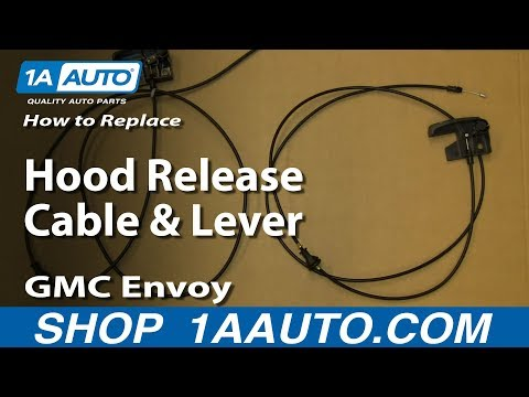 How To Install Replace Hood Release cable and Lever 02-09 GMC Envoy Chevy Trailblazer