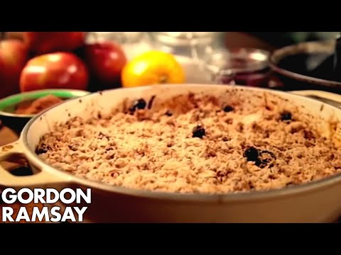 Apple and Cranberry Crumble - Gordon Ramsay