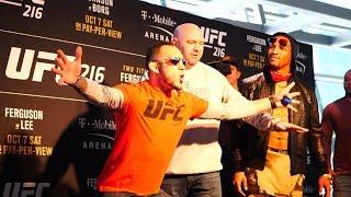 UFC 216: Tony Ferguson vs. Kevin Lee Media Day Face Off