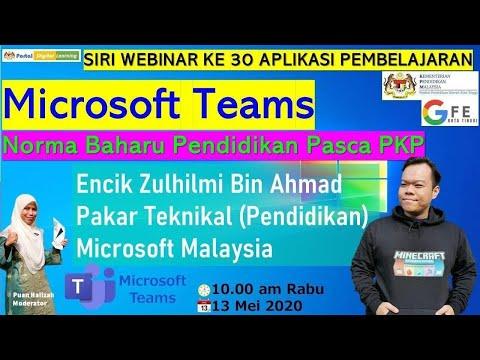 Webinar Zul Microsoft Teams - En Zulhilmi Bin Ahmad - Pakar Teknikal (Pendidikan) Microsoft Malaysia