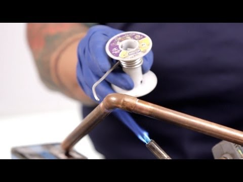 How to Solder a Pipe & Fix Water Lines   Basic Plumbing