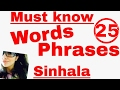 Must know Words and Phrases for Tourists - Learn Sinhala easy, fast and simple