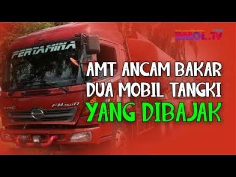 AMT Ancam Bakar 2 Mobil Tangki Yang Dibajak