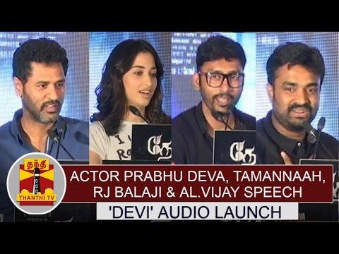 Watch-Actor-Prabhu-Deva-Tamannaah-RJ-Balaji-AL-Vijay-Speech-at-Devi-Audio-Launch-Thanthi-TV