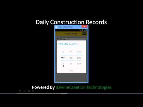 Video of Daily Construction Records