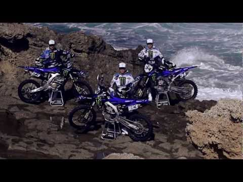 yamaha - Monster Energy Yamaha 2013 unleashed! Take an all-action ride on the beaches of Sardinia with the 2013 Monster Energy Yamaha MX Team. Steven Frossard, Joel R...
