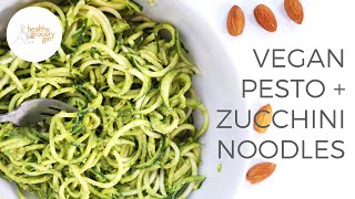 Spinach Almond Pesto With Zucchini Noodles