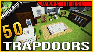 50 creative ways to use trapdoors in Minecraft (PC/console/PE)|creative tips and tricks