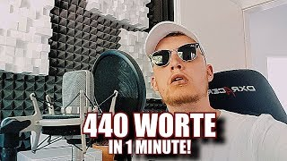Video 440 WORTE in 1 MINUTE! - YOUTUBE REKORD (prod. by 2Bough) MP3, 3GP, MP4, WEBM, AVI, FLV Agustus 2018