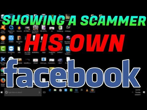 Showing A Scammer His Facebook! + Reaction