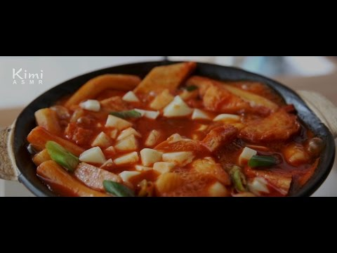 [Cooking ASMR] 치즈 국물 떡볶이 Soup Tteokbokki :: Movie, No Talking, No Music, Food ASMR (키미 Kimi)
