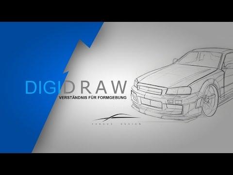 Nissan Skyline R34 zeichnen. Formgebung verstehen. Wie zeichne ich ein Auto?
