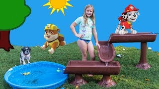 We love Paw Patrol on Nickelodeon! Please Subscribe Here http://www.youtube.com/user/TheEngineeringFamily?sub_confirmation=1Check out our second channel - https://www.youtube.com/channel/UCPC55dCdzIjNJd421LbK3uwIn this The Engineering Family YouTube outdoor summer adventure video the Assistant is searching for surprises on the world's largest water table! Surprises like Disney PJ Masks, Puppy Dog Pals and Emojis! Which surprise is your favorite?!? Check out some of these other fun TheEngineeringFamily Treasure HuntsDISNEY SURPRISE TREASURE Secret Surprise Treasure with the Assistant a Disney World Video Surprise   https://youtu.be/a3c5pAJ-o-kPJ MASKS Disney Search For PJ Masks with Blaze and Paw Patrol Video  Adventure   https://youtu.be/4mV2sNE14PgAssistant Slip N Slide Bounce House Carnival Challenge Surprise Toys Video  https://youtu.be/HKE2lCvb6fMASSISTANT TREASURE HUNT Paw Patrol Look Out Hunt + toysZootopia + Lion Guard Toys Surprise Video  https://youtu.be/ECgPK35Gw3wOr these Playlists!  Funny Kids Videos     https://www.youtube.com/playlist?list=PLoLQ9unpi4OHXhaMeWT2y6P27pbuzKbckFeaturing the Assistant   https://www.youtube.com/playlist?list=PLoLQ9unpi4OGfgjxJsWnO878aLXo2TgXHAbout The Engineering FamilyWe are The Engineering Family, a family of educators working to show you how to make learning fun and engaging through toy unboxings, toy reviews, and original series designed to insight imaginative play within your family. With Mr. Engineer as an experienced engineer with a love of exploring new things, Mrs. Engineer an award winning teacher with a math and counseling focus, and their daughter The Assistant you can think of The Engineering channel as your imagination station. You can think of The Engineering Family channel as a Funbrain meets YouTube. This family is taking some of the coolest toys like Paw Patrol, Shimmer and Shine, Scooby Doo, PJ Masks, Doc Mcstuffins, and plenty of fun Real Life live action videos that help teach children valuable STEM content. As always... TheEngineeringFamily only features 100% suitable family fun entertainment.