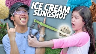 Video Ice Cream Slingshot Challenge (Hard Catch) | Ranz and Niana MP3, 3GP, MP4, WEBM, AVI, FLV Mei 2019