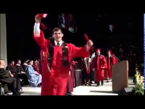 Student does hilariously back flip at graduation ceremony