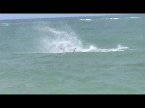 Kitesurfing crash
