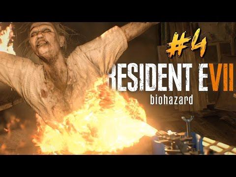 ОГНЕМЕТ ПРОТИВ ТВАРЕЙ! - Resident Evil 7 #4