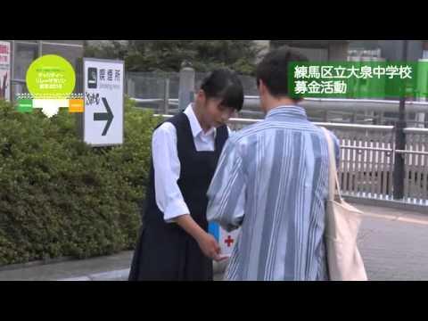 チャリティー・リレーマラソン東京2015 練馬区立大泉中学校の募金活動