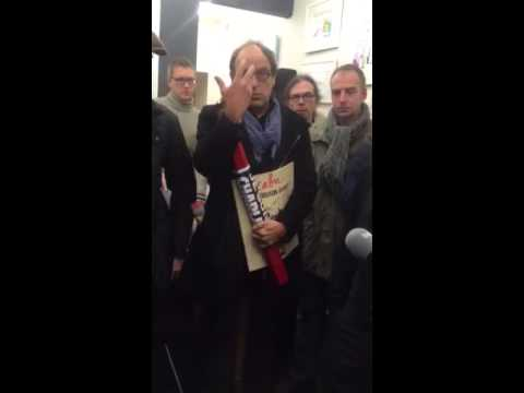 Europe: Journalists pay tribute to Charlie 5/5 (видео)