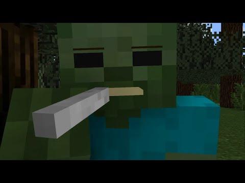 Zombie Life - Minecraft Animation (видео)